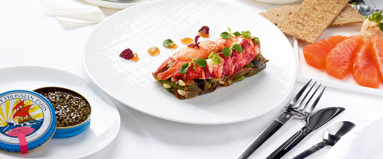 PRESTIGE menu signed by chef Rostang